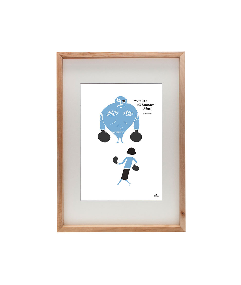 James Joyce Ulysses print Fight by At it Again! Frame
