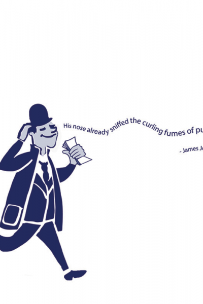 James Joyce Dubliners Print - The one with all the Booze