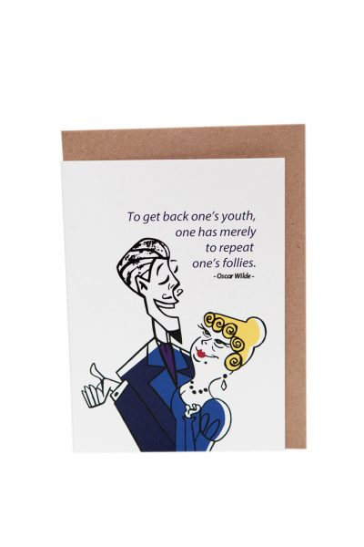 Oscar Wilde Dorian Gray Greeting Card by At it Again! Literary card made in Ireland.