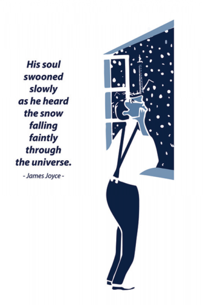 James Joyce Dubliners Print Snow by At it Again!