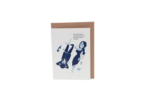 James Joyce Ulysses Greeting Card by At it Again! Literary Card made in Ireland.