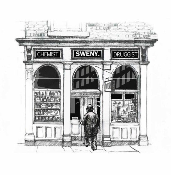 Sweny's Chemist illustration by At it Again!