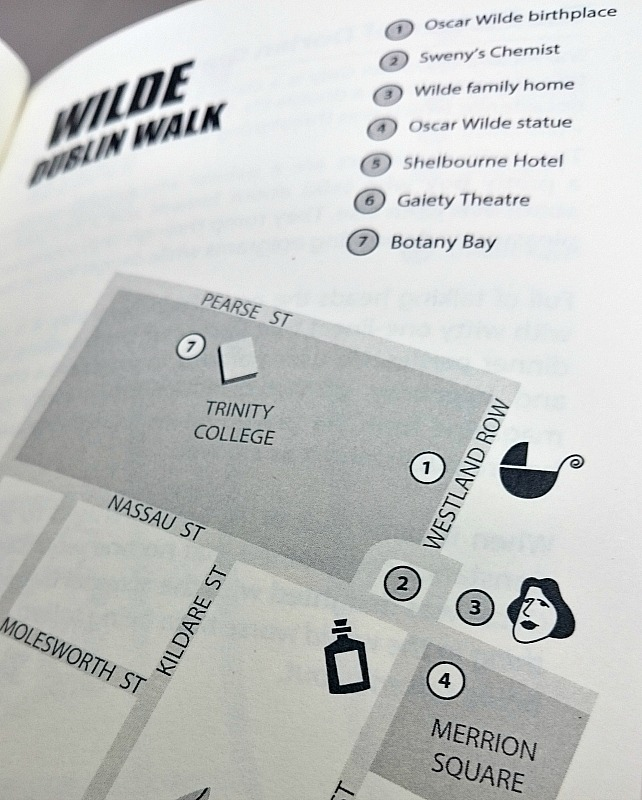Oscar Wilde Dublin Walk Map from Romping through Dorian Gray by At it Again!