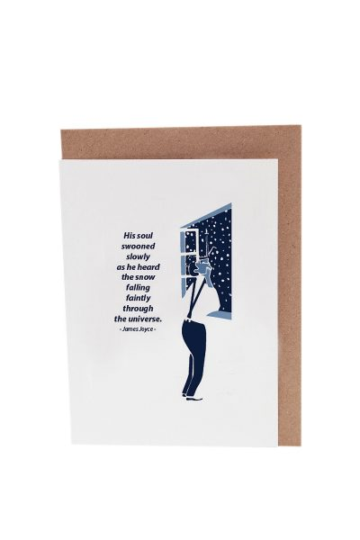 James Joyce Dubliners greeting card by At it Again! based on The Dead