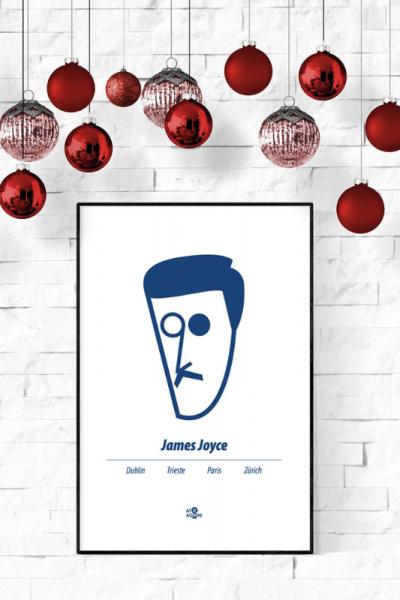 A3 James Joyce Print Christmas Style Product Image
