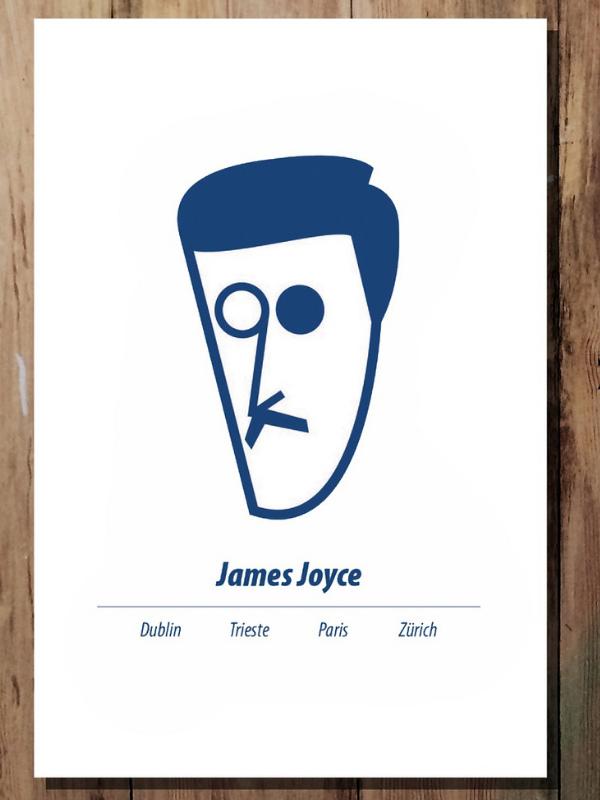 A3 James Joyce Print Product Image