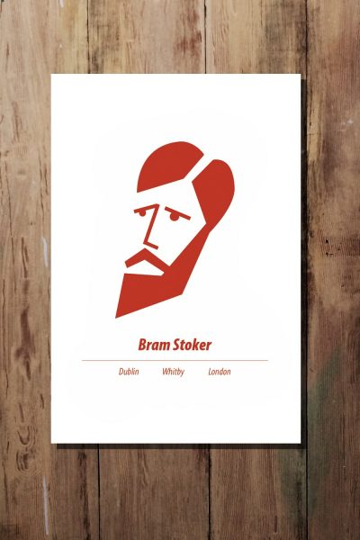 Red A3 Bram Stoker print by At it Again!