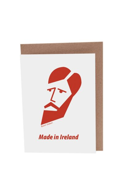 Bram Stoker greeting card by At it Again! Literary Card made in Ireland.