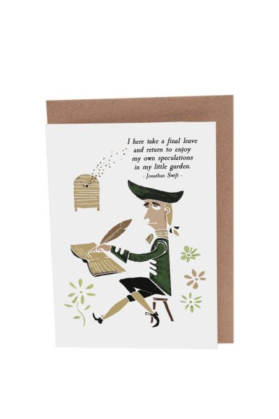 Jonathan Swift Gulliver's Travels greeting card by At it Again!