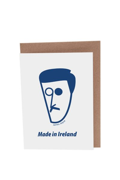 James Joyce card by At it Again! Literary Card made in Ireland.