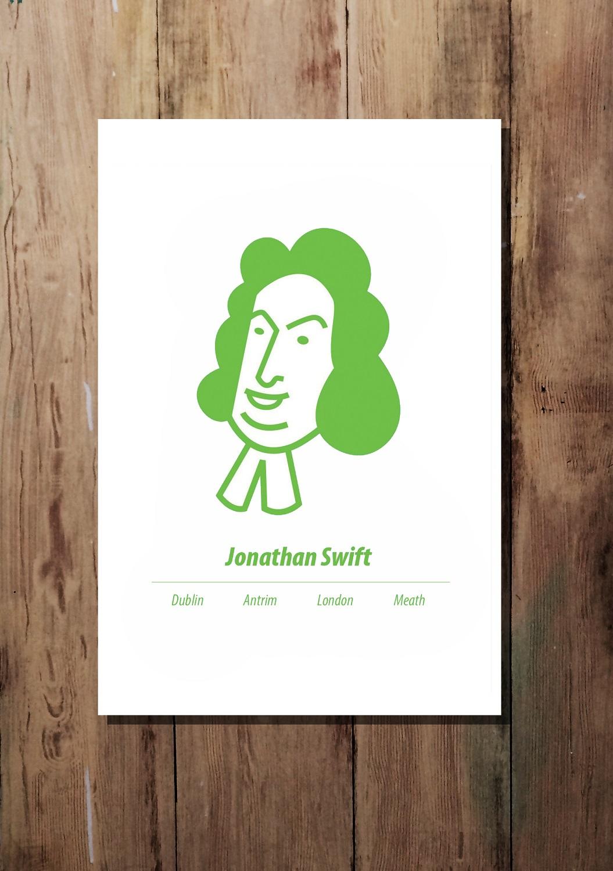 Bright Green A3 Jonathan Swift print by At it Again!