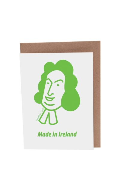 Jonathan Swift greeting card by At it Again! Literary Card made in Ireland.