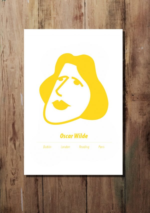 Yellow A3 Oscar Wilde print by At it Again!