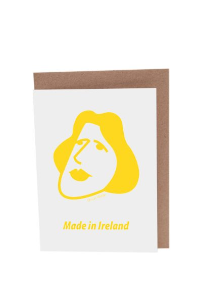 Oscar Wilde greeting card by At it Again! Literary Card made in Ireland.
