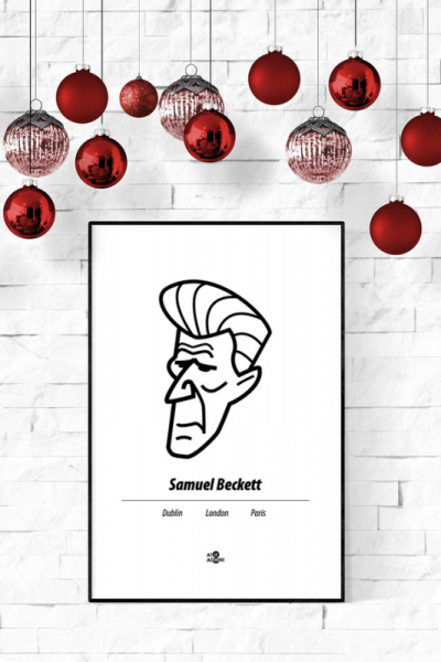 Samuel Beckett Print Christmas Style Product Image
