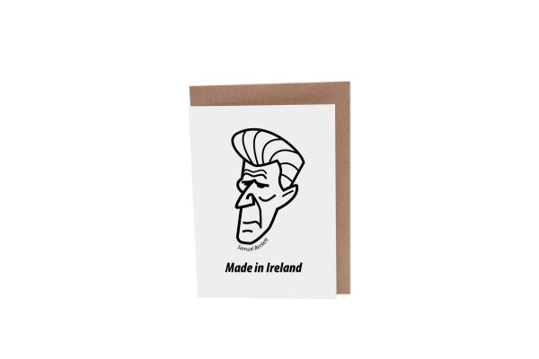 Samuel Beckett greeting card by At it Again! Literary Card made in Ireland.