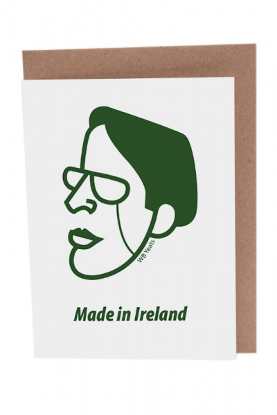 WB Yeats Greeting Card Product Image