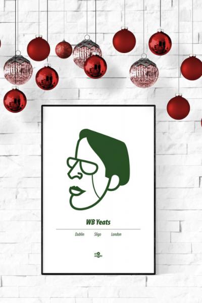 WB Yeats Print Christmas Style Product Image