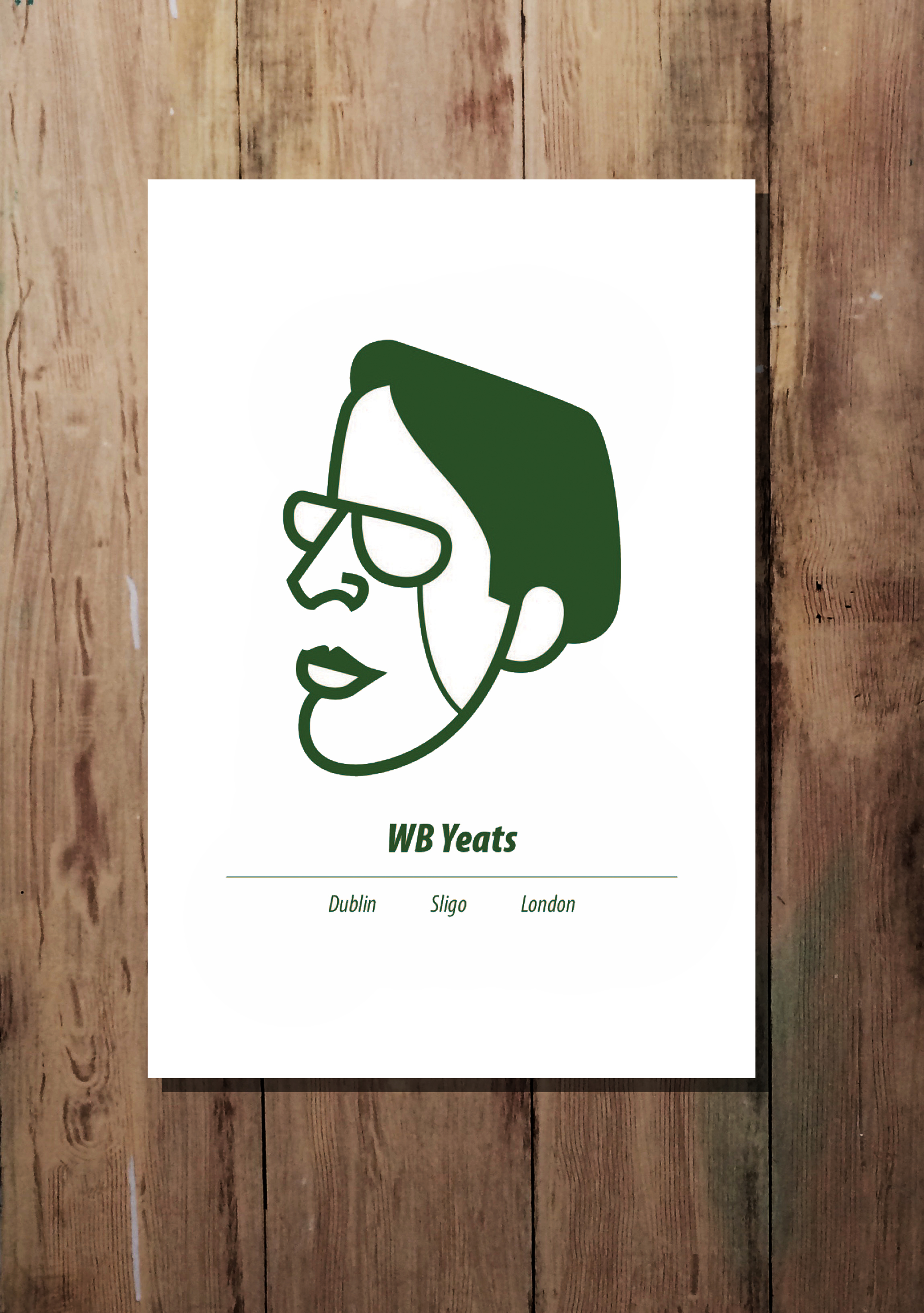 WB Yeats print by At it Again!