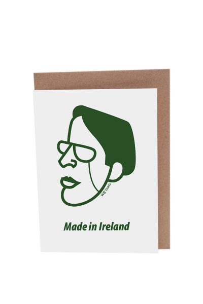 WB Yeats Greeting Card by At it Again! Literary Card made in Ireland.