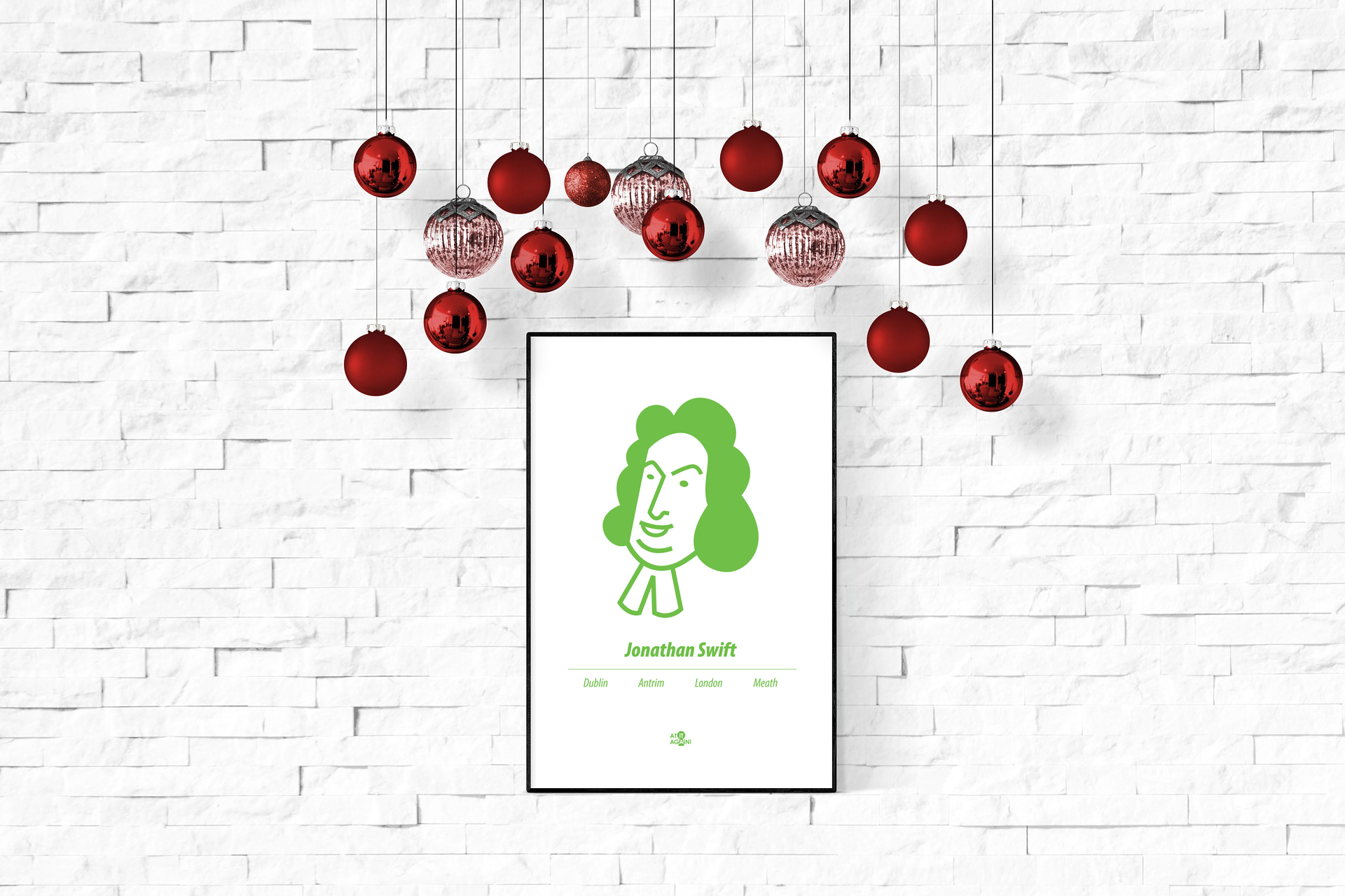 Jonathan Swift print by At it Again!
