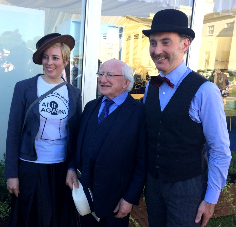 At it Again! and the President of Ireland Michael D Higgins at Bloomsday Garden Party 2017