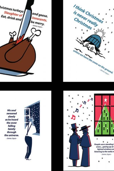Literary Christmas Cards by At it Again!