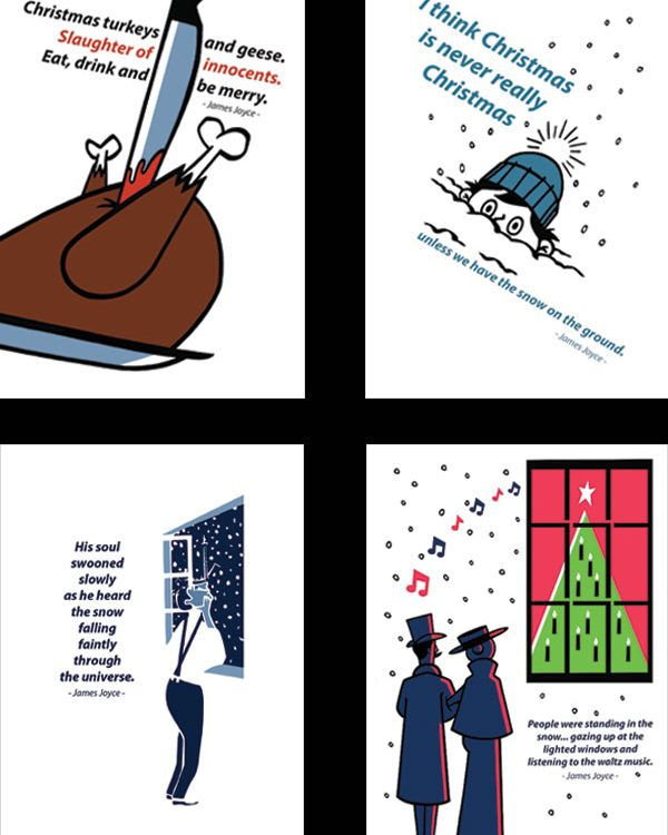 Literary Christmas Card Set