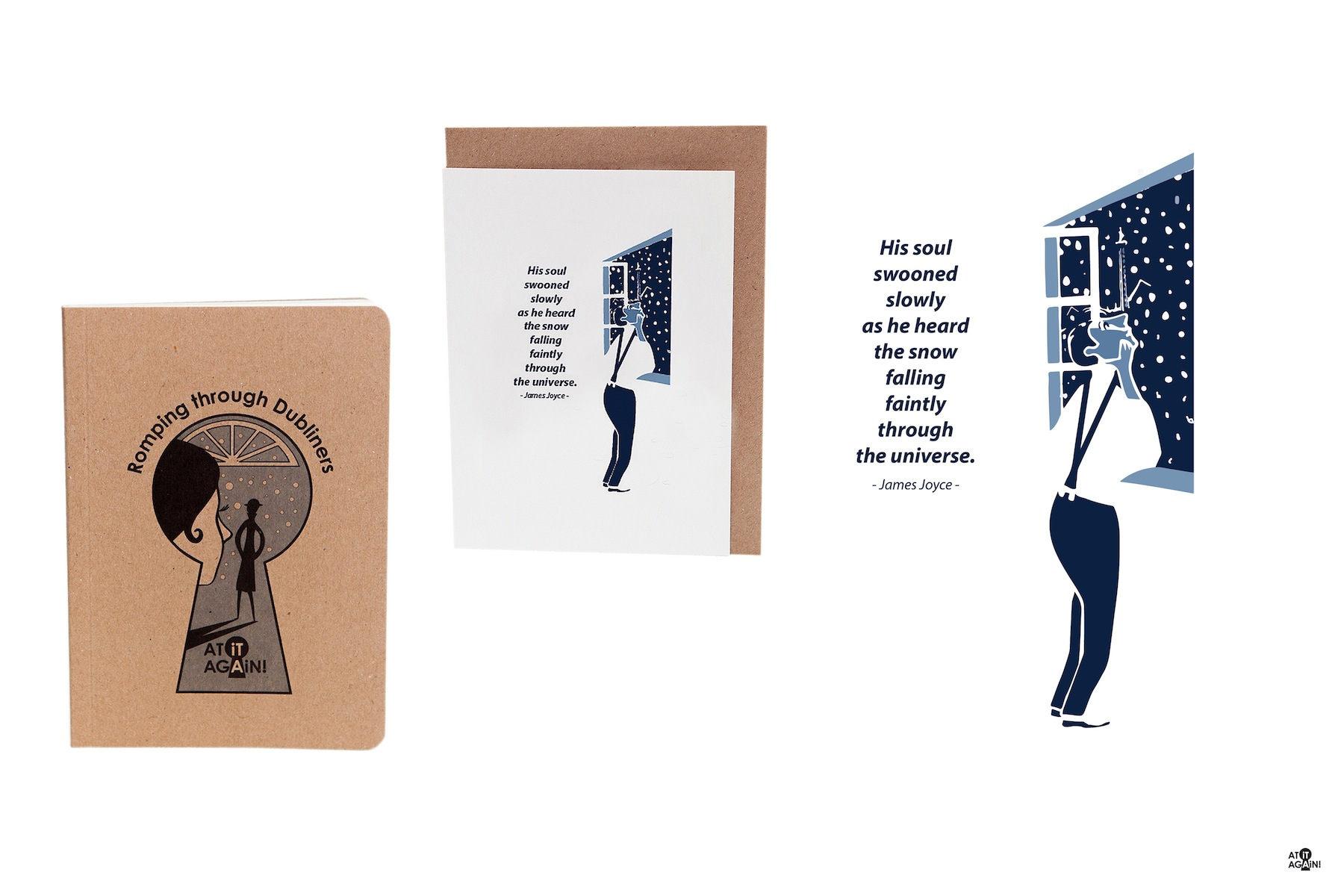 Literary Christmas Gifts and Cards by At it Again!