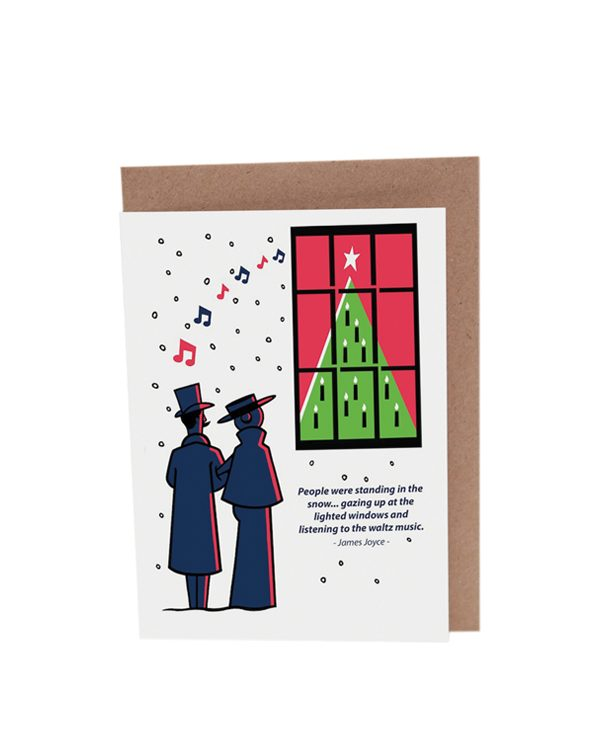 James Joyce Dubliners Christmas Card Waltz