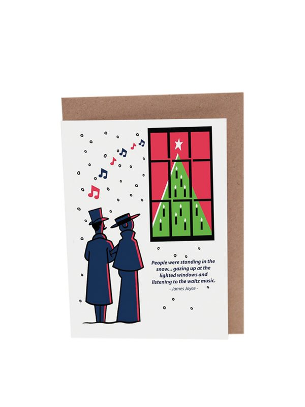 James Joyce Dubliners Christmas Card Waltz by At it Again! with envelope