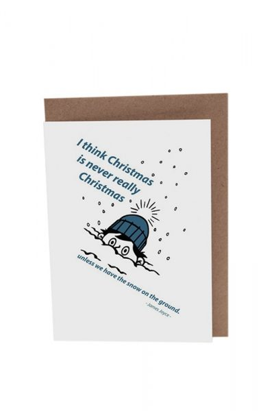 James Joyce Dubliners Boy Christmas Card Product Image