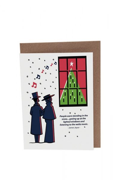 James Joyce Dubliners Waltz Christmas_Card Product Image