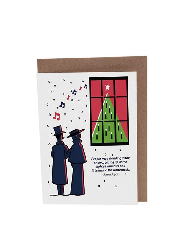 James Joyce Dubliners Waltz Christmas_Card Product Image