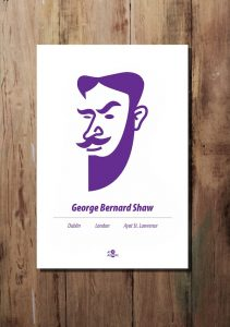 George Bernard Shaw print by At it Again!