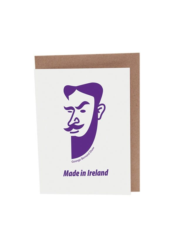 George Bernard Shaw greeting card by At it Again! Literary Card made in Ireland.