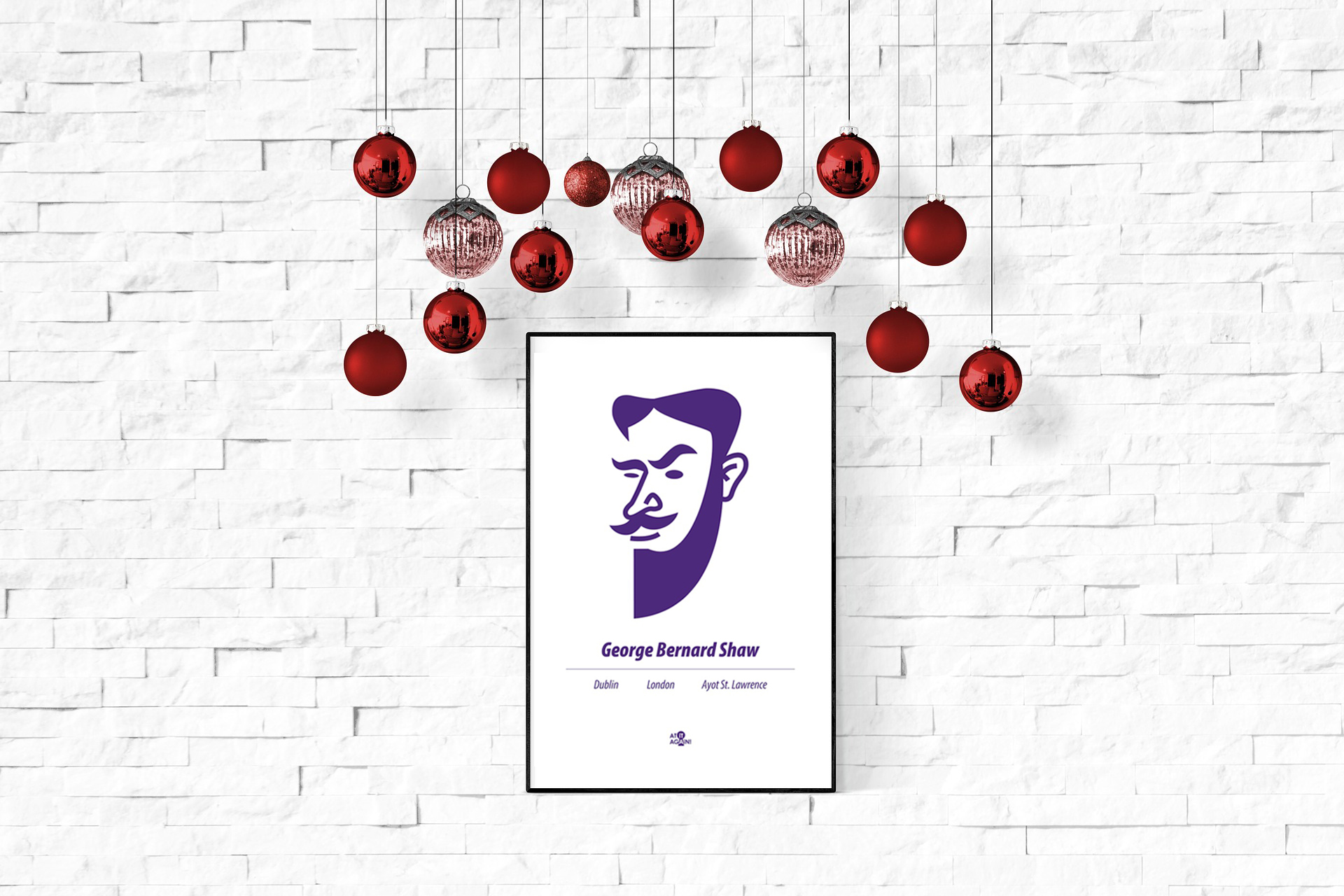 George Bernard Shaw print by At it Again! Christmas gift
