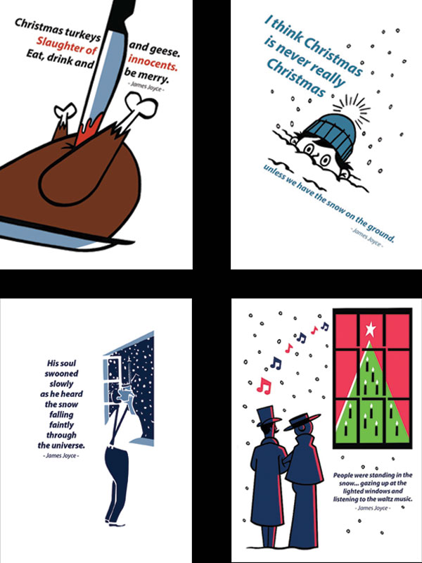Literary Christmas Card Set by At it Again!