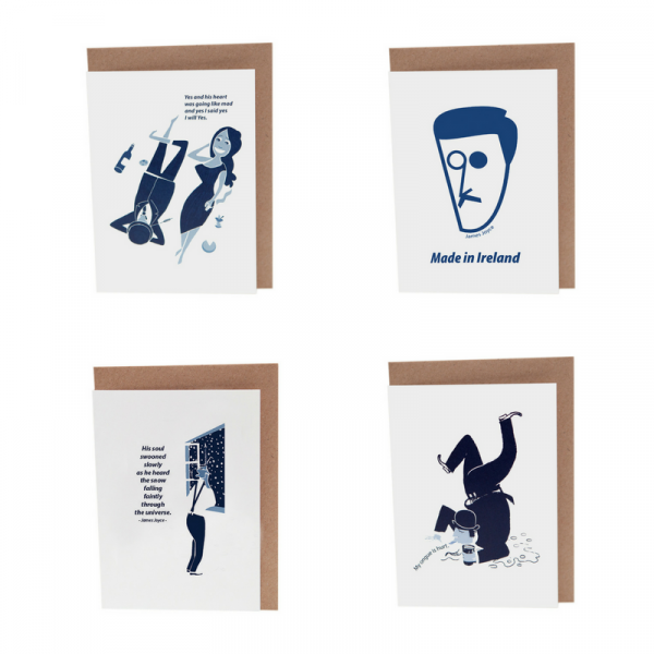 James Joyce Card Set by At it Again! Literary Cards made in Ireland
