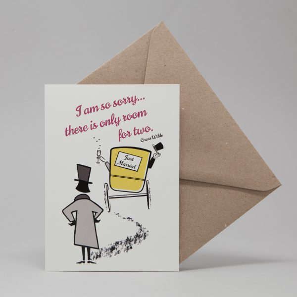 Wilde Wedding Card by At it Again!
