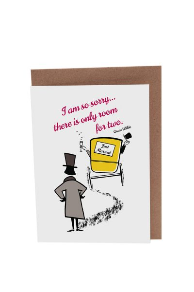 Oscar Wilde Wedding Card by At it Again!