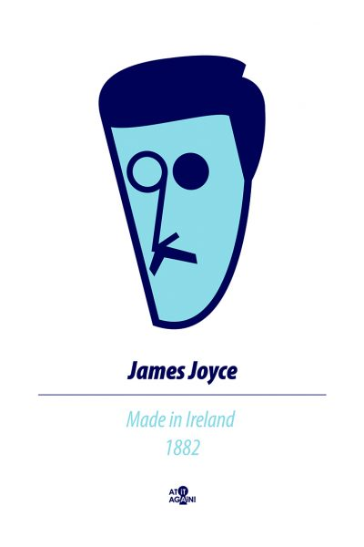 James Joyce A4 Print by At it Again!
