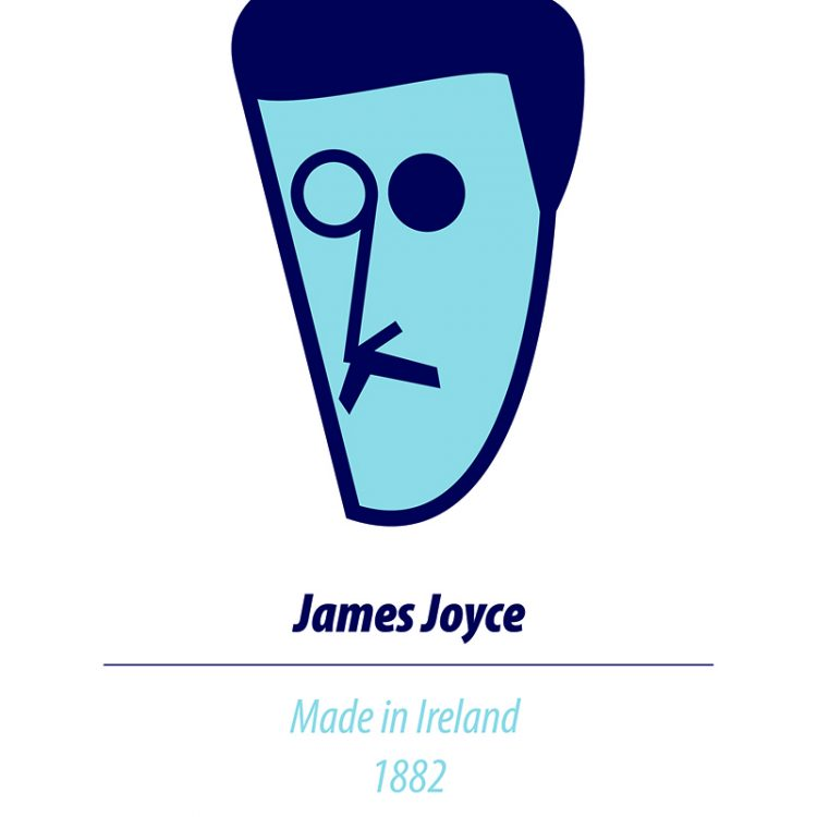 James Joyce A4 Print