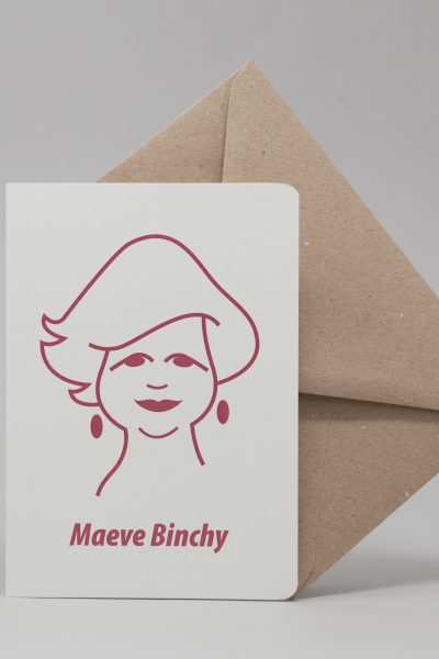 Maeve Binchy Greeting Card by At it Again!