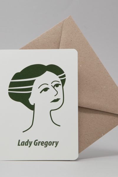 Lady Gregory Greeting Card by At it Again!
