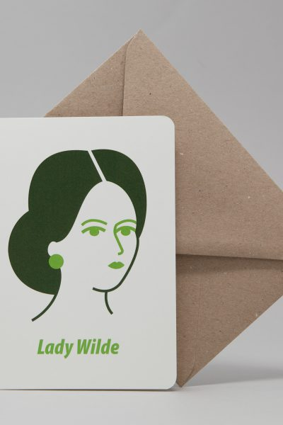 Lady Wilde Greeting Card by At it Again!