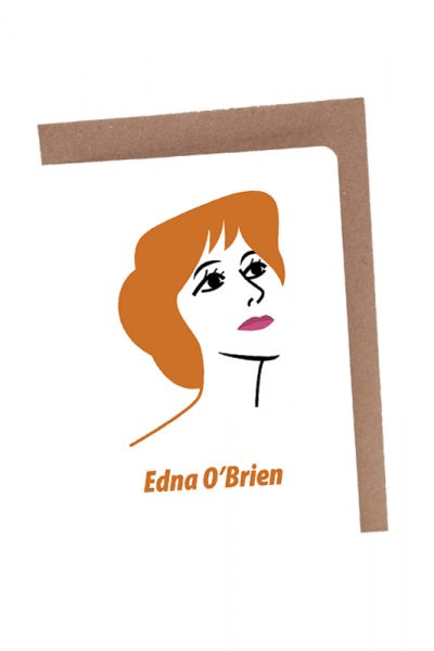 Edna O'Brien greeting card by At it Again!