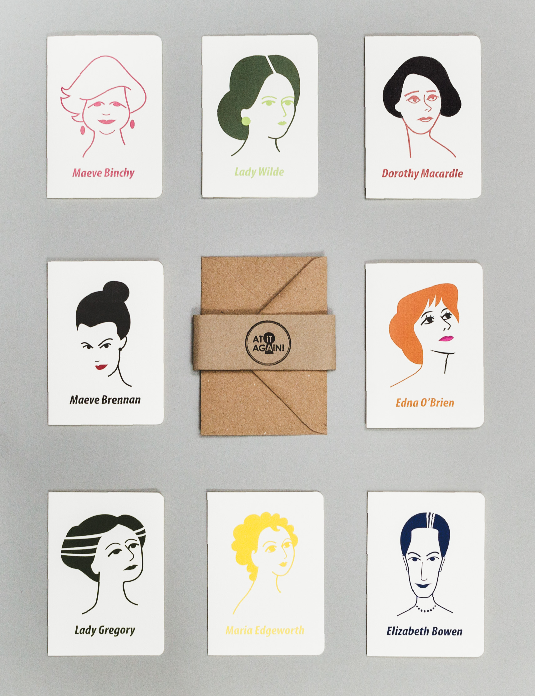 Irish Women Writers Greeting Card Set by At it Again!