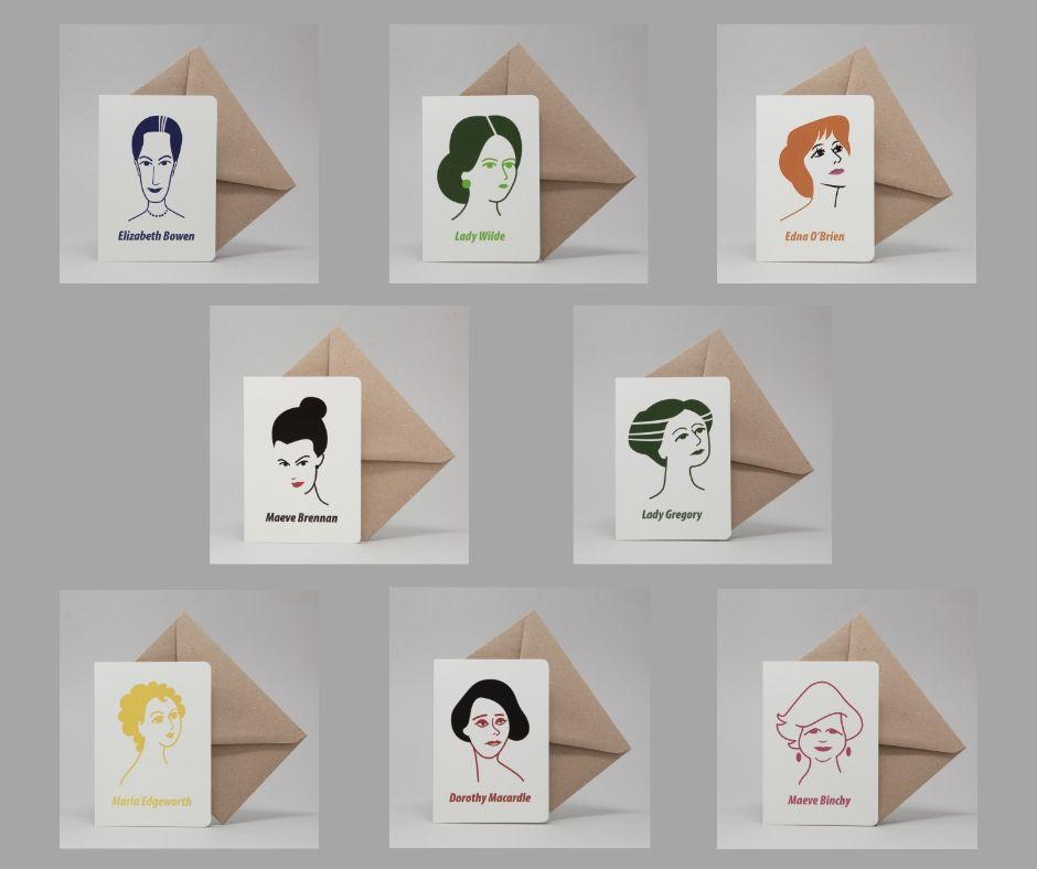 Irish Women Writers Card Set by At it Again!
