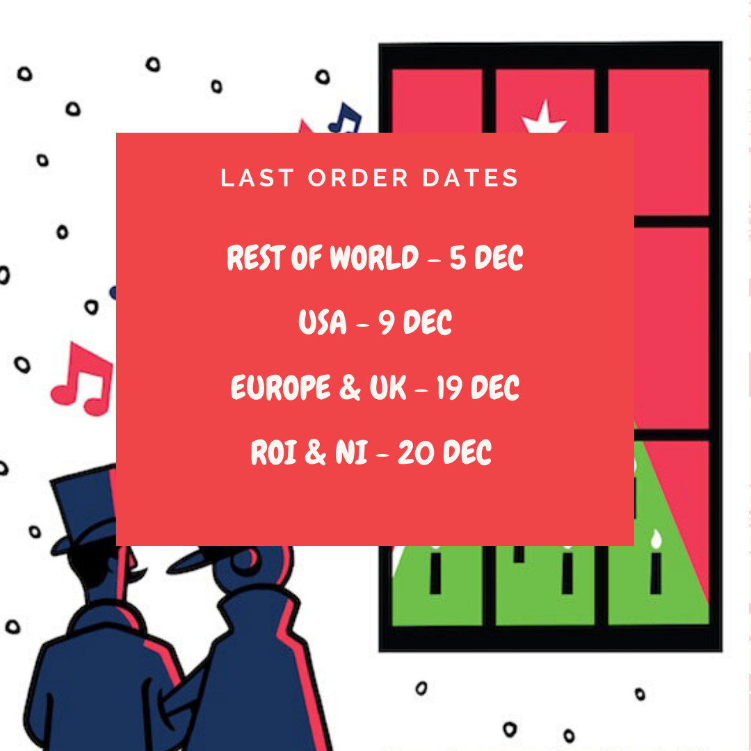 Last order dates for Christmas gifts from At it Again!